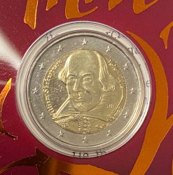 San Marino - 2 euro 2016  - William Shakespeare