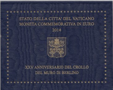 Vaticano - 2€ Comm. 2014 FDC Muro di Berlino in Folder